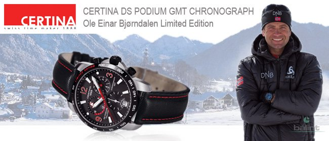 CERTINA DS PODIUM GMT OLE EINAR BJÖRNDALEN LIMITED EDITION